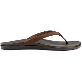 OluKai W's Hoopio Sandals Dark Java/Dark Java